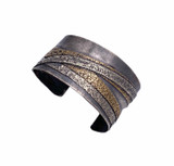 Sterling Silver and Bronze Cuff