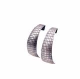 Sterling Rolled Half Hoop Earring