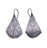 Sterling Silver Medium Etched Lace Earrings
