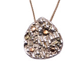 Sterling Silver Pendant With 14K Dots