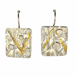 Sterling Silver and Fused Keum Boo Earrings