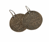 Sterling Silver Etched Round VOTE Earrings