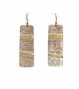 Sterling Silver and 22K Gold Earrings with GF Ear Wires