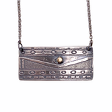 Sterling Silver and 24K Gold Geometric Necklace