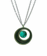 Turquoise Cosmos Pendant