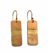 Sterling Silver, Copper and Brass Earrings with 14K GF Earwires