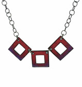 3 Squares Reversible Enamel Necklace