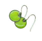 Chartreuse Enamel Earrings