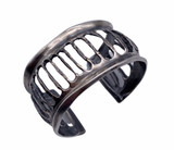 Sterling Silver Corrugated Cuff
