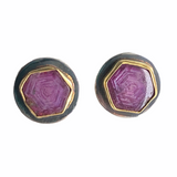 22Kt/Sterling Silver Ruby earrings