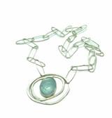 Aquamarine Orbit Pendant