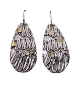 Sterling Silver and 18K Gold Fused  Wave Earrings