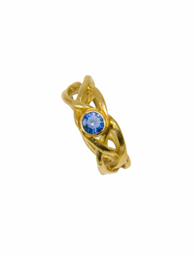 18k gold and sapphire ring