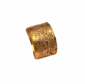Wide textured band available in gold