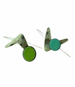 Silver Boomerang Earrings