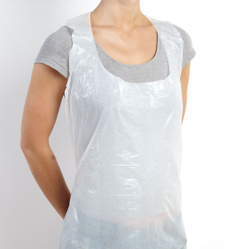 Disposable Plastic Medical Dental Transparent Apron Personal Water Proof, 71 x 117cm, pkt of 100 pcs