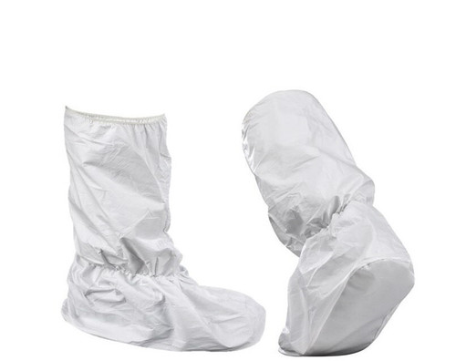 Disposable Non Woven  WATERPROOF WHITE Boot Covers, Pkt of 50 Pcs