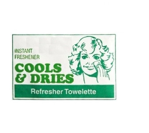 50pcs REFRESHER TOWELS COOLS & DRIES TOWELETTES LOOSE
