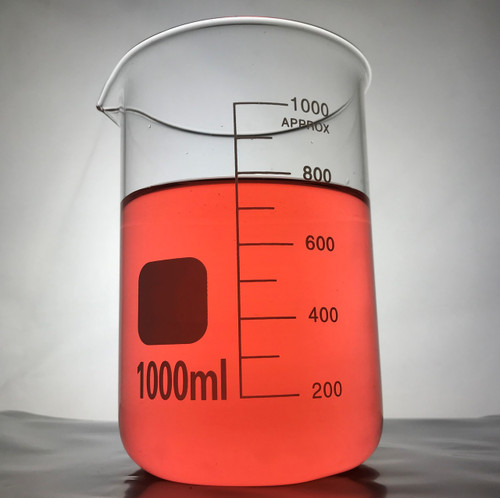 1000 ml Borosilicate graduated laboratory glass beaker, Low Form
