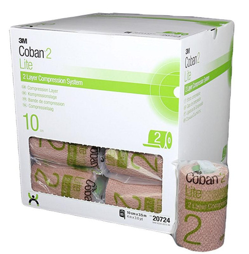 Coban 2 Layer Lite Compression Layer 10Cm X 3.5M Lymphoedema