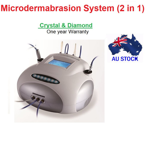 2 in1 Crystal & Diamond MicroDermabrasion Facial Peel Skin Rejuvenation Acne