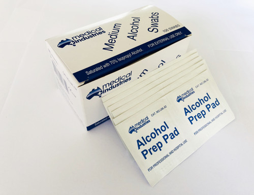 Alcohol pads 70% Isopropyl Alcohol, 65 x 30mm, Skin Swab, pkt of 100pcs