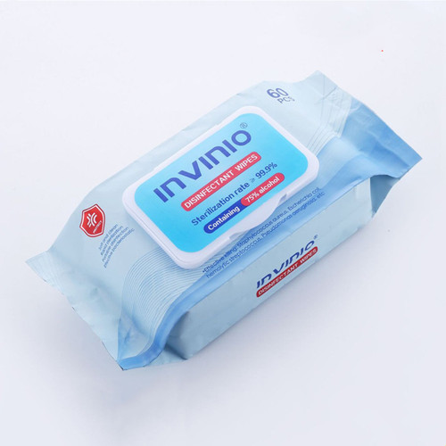 75% Alcohol Wipes 60pc Pack Surface Sterilisation 99.99% Effective Rapid Clean (pick up available NSW2151)