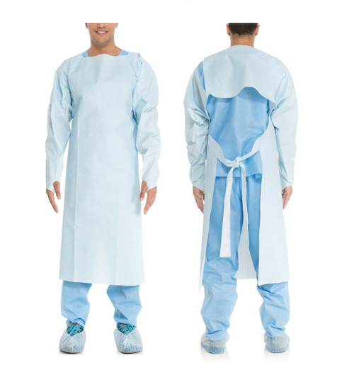 150 Pcs Disposable Plastic Isolation Cover Gown Waterproof Clean Apron,Free Size