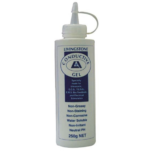 Conductive Lubricating Clear Gel for Ultrasound and ECG Electrocardiogram, 250ml in Easy Squeeze Bottle