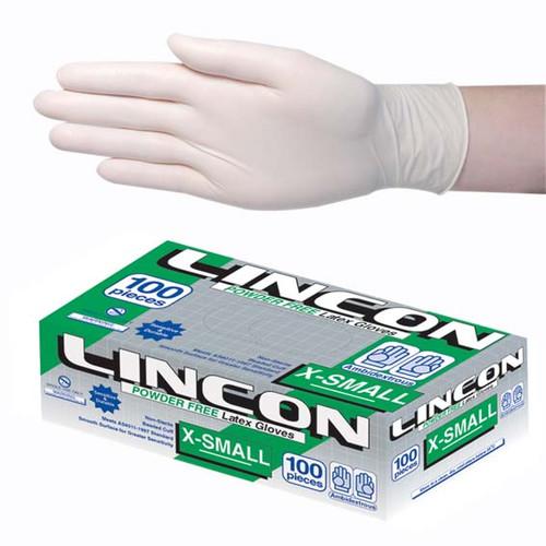 Lincon Biodegradable Latex Examination Gloves, AS/NZ, Powder Free, Extra Small, Cream Colour, 100 per Box