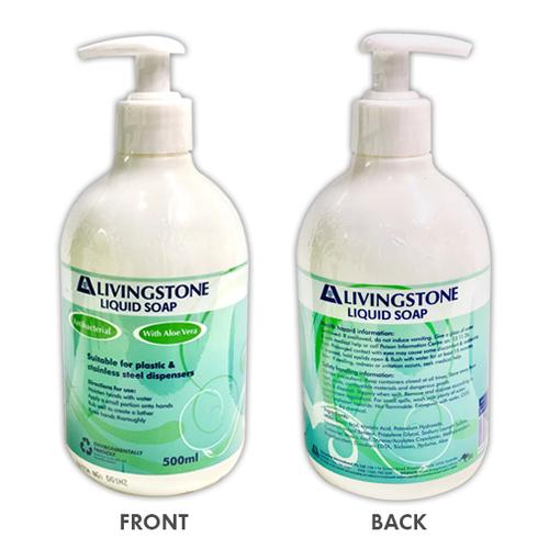 Antibacterial Hand Wash Liquid Soap, Aloe Vera Moisturiser, 500ml with Pump, Each