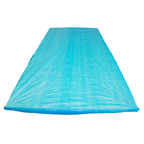Mattress Protector, Fitted Draw Sheet or Bed Sheet, 210 x 90 x 20 cm, Soft CPE Plastic, Waterproof, Blue, Disposable, Loose
