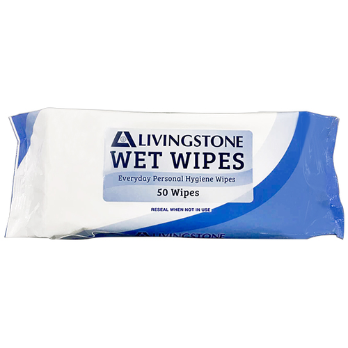 Wet Wipes Adult Extra Large and Thick, 24x30cm, 50 Wipes in Soft Resealable Pack, 12 Packs per Carton