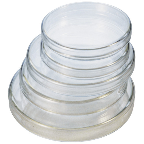 Petri Dish, 100 Diameter x 20 Height mm, with Lid, Borosilicate Glass, Each