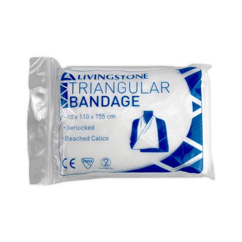 Triangular Bandage, Bleached Calico, 110 x 110 x 155 cm Each