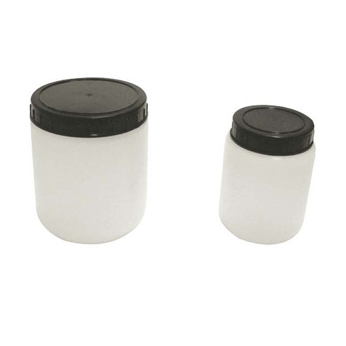 Cylindrical Jar w/Cap, HDPE, 500ml, 91 x 103mm, 70 Mouth, Each