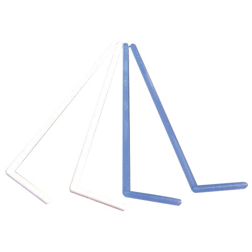 Aptaca Media Spreader L-Shaped, Recyclable Polypropylene, Gamma Sterile, White, 5 per Pack