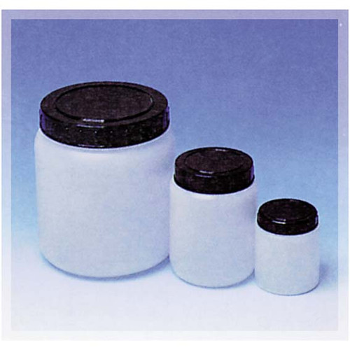 Cylindrical Jar w/ Cap, HDPE, 70ml, 50 x 60mm, 36 Mouth, Each