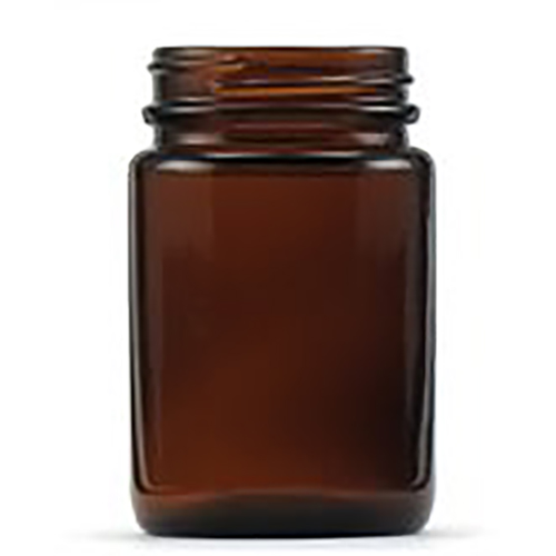 Glass Jar Pomade with Cap, 125ml, Amber, 42 Per Pack (BC4830)