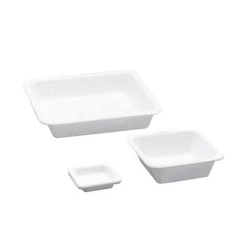 Aptaca Balance Boats, Square, 100ml, 80 x 80 x 24mm, High Impact Recyclable Polystyrene, 2.2 grams, White, 250 per Bag