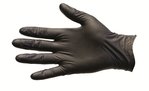 Pro-Val Nitrile Gloves, Powder Free, Disposable, Extra Large, Black, 100 per Box