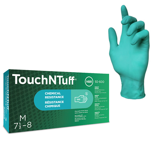 Ansell Touch N Tuff Nitrile Gloves, Green, Powder Free, Non Sterile, Large