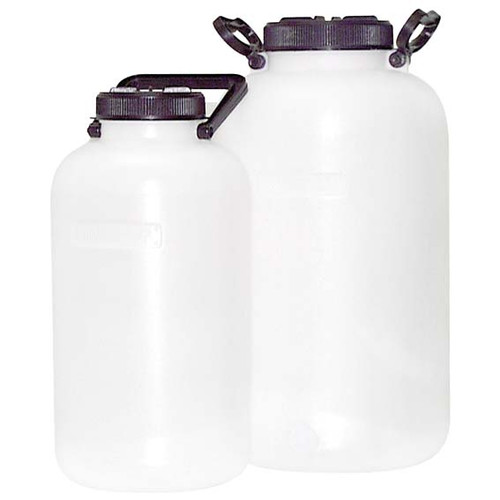 Aptaca Storage Bottle/Carboy, 10 Litres, Wide Neck with Handle, Recyclable High Density Polyethylene (HDPE), Each