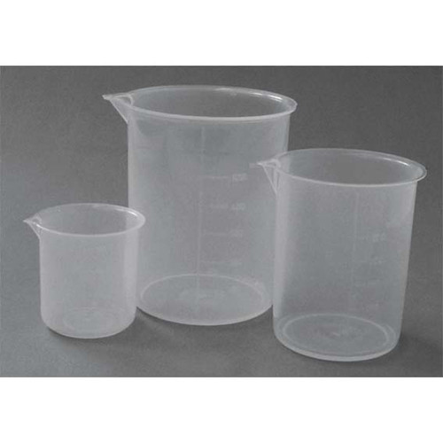 Beaker, 1000ml, Low Form, with Spout, Recyclable Polypropylene, Each