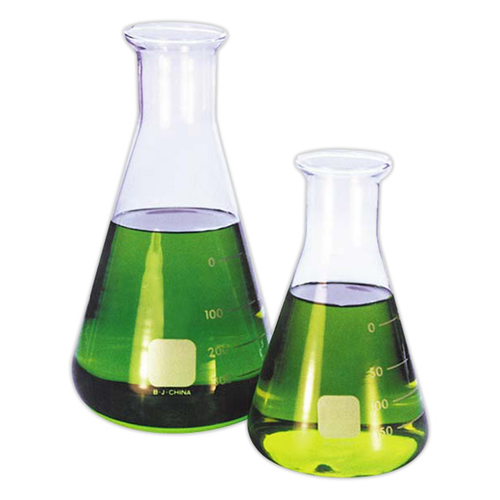 Lincon Erlenmeyer Conical Flask, 250ml, Narrow Neck, 32mm Neck Diameter, Borosilicate Glass, Graduated, 2 per Box
