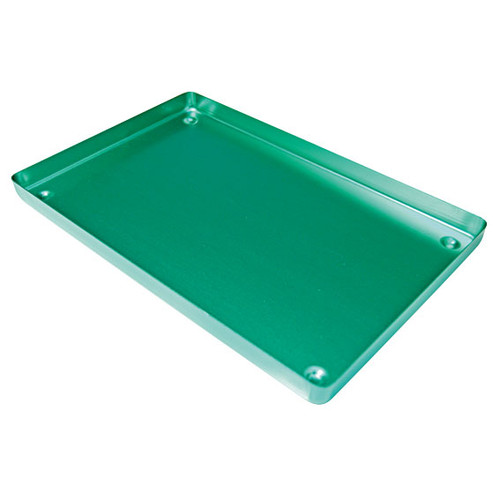 Instrument Tray, 183 x 284 x 17mm, Green Base, Aluminium, Each