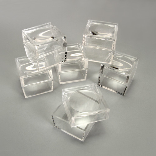 Magnifying Jars, 41D x 60H mm, Transparent, pkt of 6 pcs