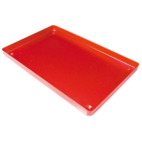 Instrument Tray, 183 x 284 x 17mm, Red Base, Aluminium, Each