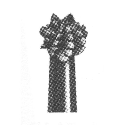 Ad Steel Burs, Round, ISO 001001 #06 (1/2), Right Angle, 6 per Pack