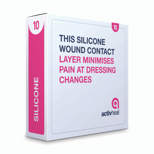 ActivHeal Silicone Wound Contact Layer 10 X 10cm - 10pcs/Box